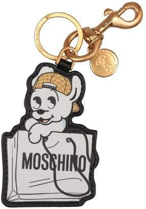 Moschino Leather Keyring