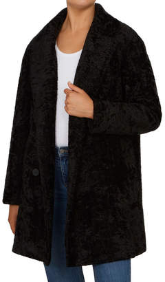French Connection Textured Faux Fur Coat