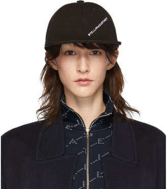 Stella McCartney Black Logo Baseball Cap