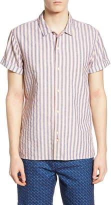 Scotch & Soda Structured Stripe Woven Shirt
