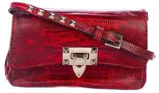 Valentino Lizard Mini Rockstud Crossbody Bag