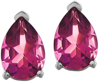 14K Pear-Shaped Pink Sapphire Stud Earrings
