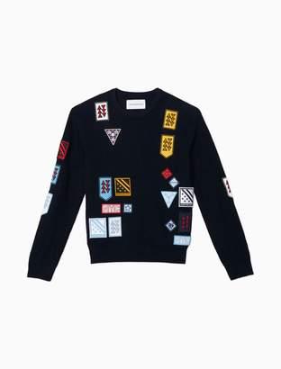 Calvin Klein Multi Badge Crewneck Sweater