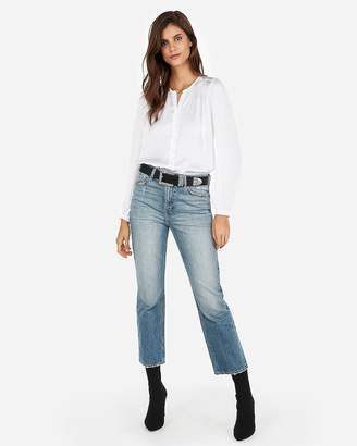 Express Satin Button Front Thong Bodysuit
