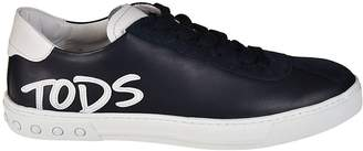 Tod's Logo Applique Lace-up Sneakers