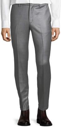 Versace Wool Slim-Leg Pleated Pants