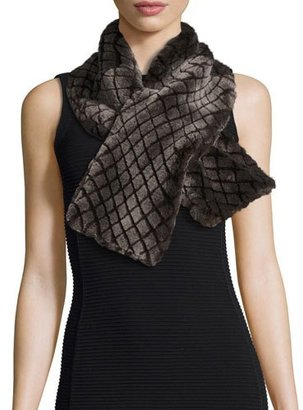 UGG Croft Quilted Shearling Fur Scarf, Chocolate $206 thestylecure.com
