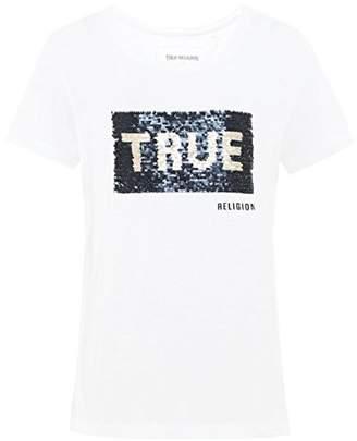 True Religion Women's Sequin Elongated Tee