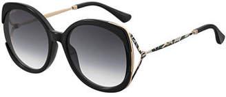 Jimmy Choo Lilas Square Gradient Open-Temple Sunglasses