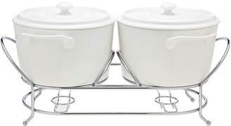 Godinger La Cucina 2Qt Double Ceramic Warmer