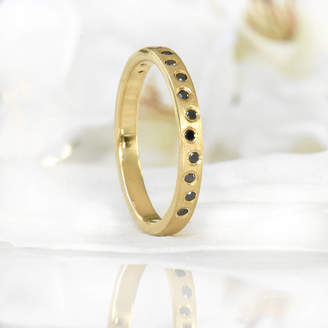 Black Diamond Lilia Nash Jewellery Ring In 18ct Gold Or Platinum