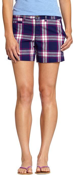 "Women's Plaid Canvas Shorts (5"")"