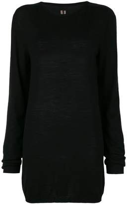 Rick Owens elongated long-sleeve jumper