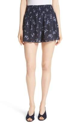 Rebecca Taylor Francine Floral Silk Shorts