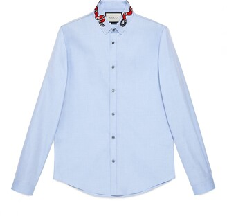 Gucci Oxford Duke shirt with Kingsnake