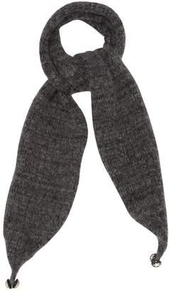 Chanel Grey Wool Scarves