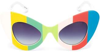 Linda Farrow Jeremy Scott 'Graphic Cat Eye' sunglasses