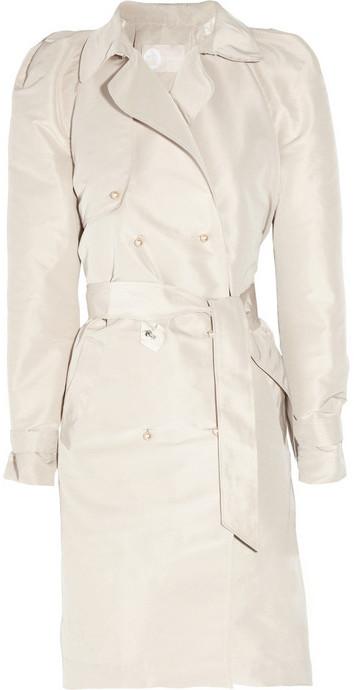 Lanvin Embellished taffeta trench coat