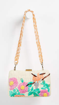 Serpui Marie Marissa Flowers Clutch
