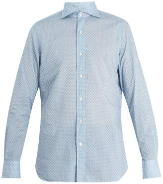 Finamore Gaeta spread-collar floral-print cotton shirt