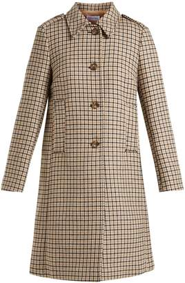 RED Valentino Checked wool-blend tweed coat