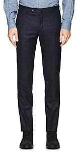 Incotex Men's S-Body Slim Wool Trousers - Navy