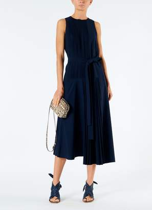 Tibi Edith Pleating Sleeveless Dress