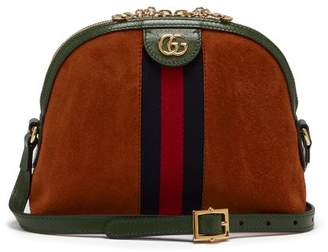 Gucci Ophidia Gg Suede Cross Body Bag - Womens - Orange Multi