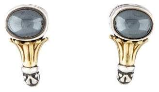 Lagos Hematite Earclip Earrings