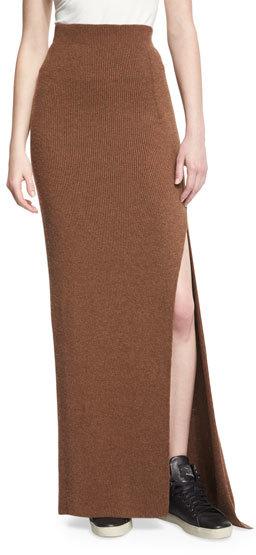 Helmut LangHelmut Lang Transfer-Knit Maxi Skirt, Terra