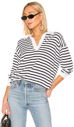 Theory Striped Polo Sweater