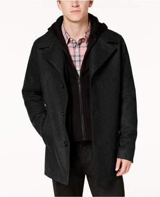 GUESS Men Hooded Wool Coat