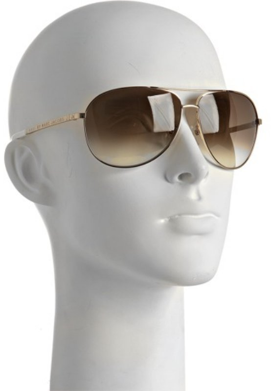 Marc by Marc Jacobs gold modified aviator sunglasses