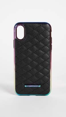 Rebecca Minkoff Quilted Love Oil Slick iPhone X Case