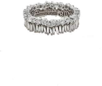 Suzanne Kalan Double Diamond Round Baguette Eternity Ring - White Gold