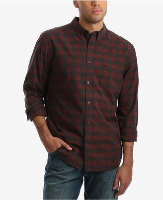 Wrangler Men Long Sleeve Check Plaid Shirt