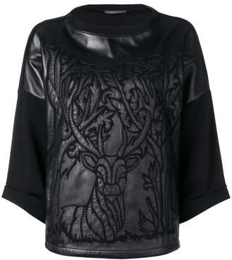 Alberta Ferretti embroidered stag jumper