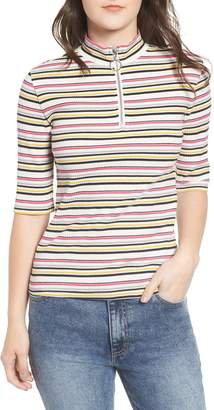 BP Stripe Mock Neck Top