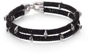 Black Diamond StingHD Black Diamond, Silver& Stingray Wrap Bracelet