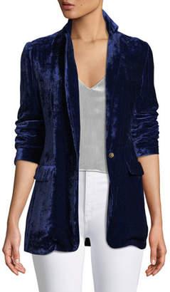 Forte Forte Tailored Velvet Snap-Front Blazer Jacket