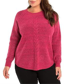 Marc O'Polo Marco Polo Long Sleeve Mixed Knit Cable Sweater