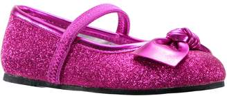 Nina Larabeth-T Glitter Bow Ballet Flat
