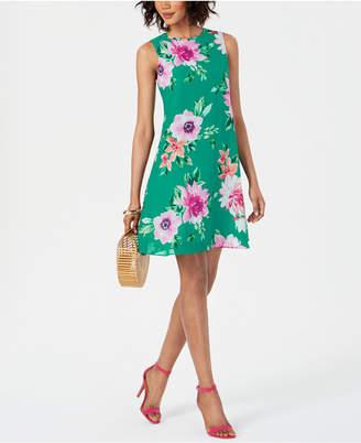 Jessica Howard Floral Chiffon A-Line Dress
