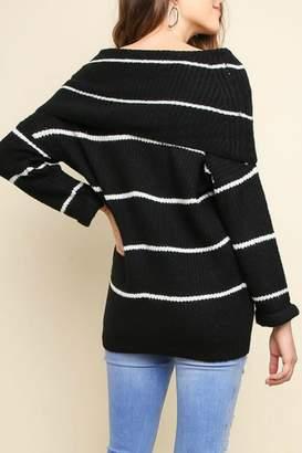 Pretty Little Things Ots Stripe Sweater
