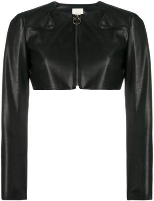 Pinko cropped faux leather jacket