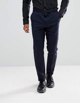 HUGO Slim Fit Stretch Suit Pants In Navy