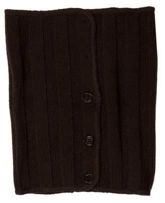 John Varvatos Wool Rib Knit Snood brown Wool Rib Knit Snood