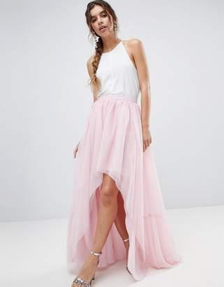 Asos DESIGN High Low Hem Tulle Skirt