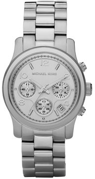 Michael Kors Stainless Steel Midsized Chronograph Watch