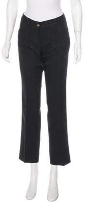 Dolce & Gabbana Jacquard Mid-Rise Pants
